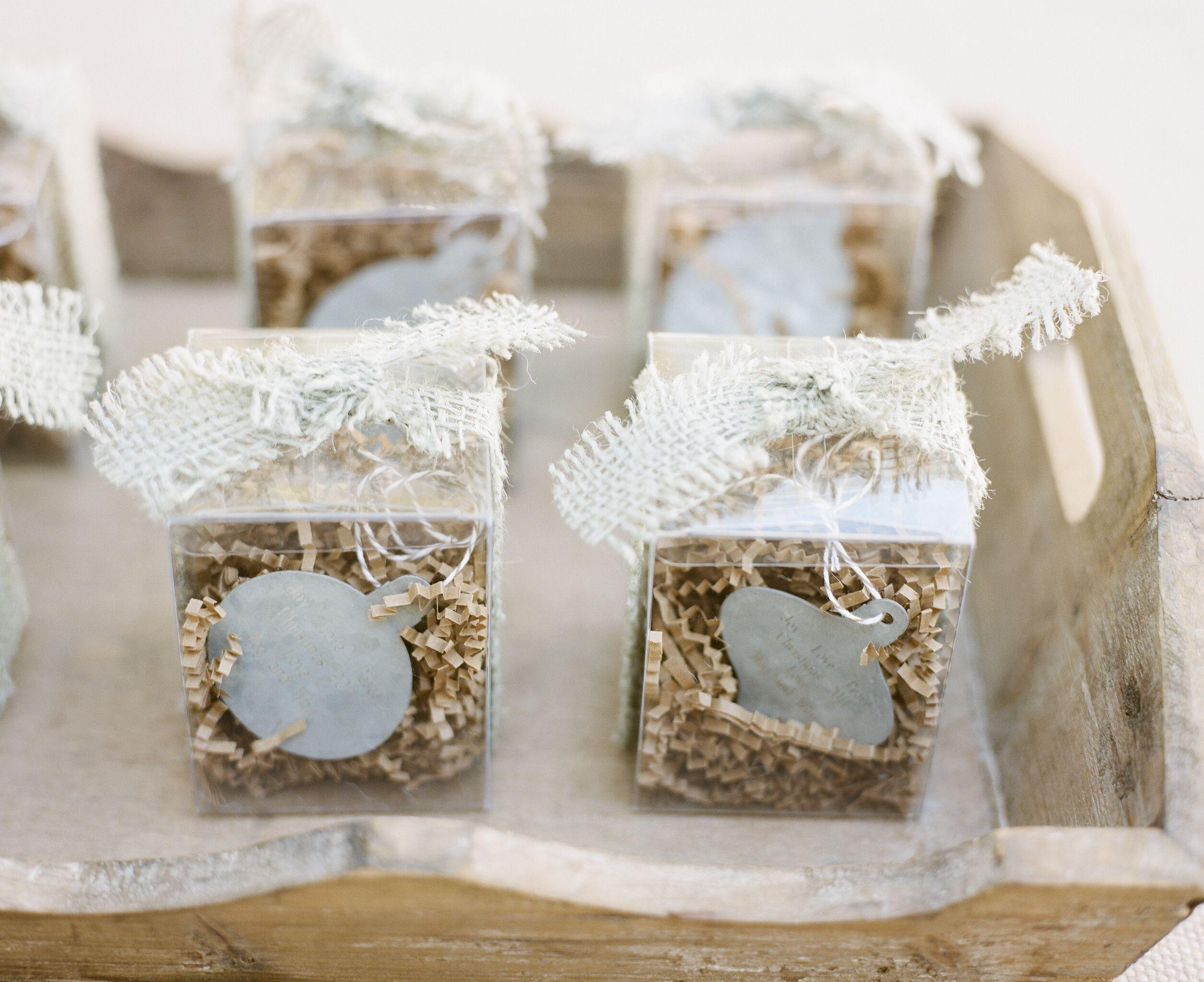 custom ornament parting favor for a december wedding|calder clark ...