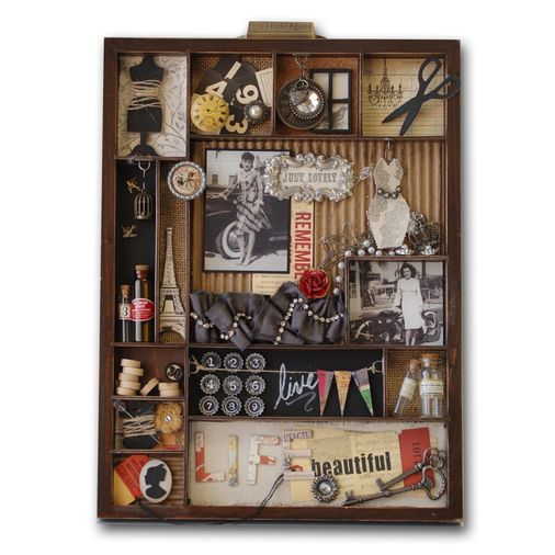 What a cute shadowbox. I would love to make these. I collect so many small useless items, so it would be perfect for me.