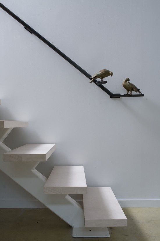 Black hand rail with birds | STAIRS | Banisters, Home ...