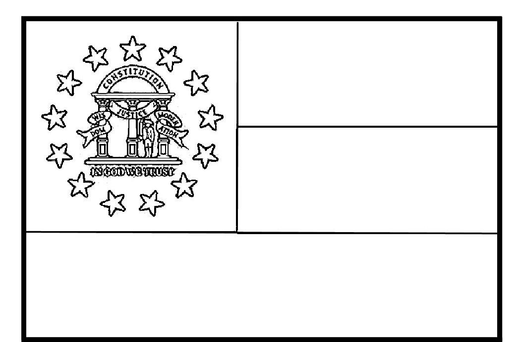 Georgia State Flag Coloring Page Here S The State Flag You Can 10