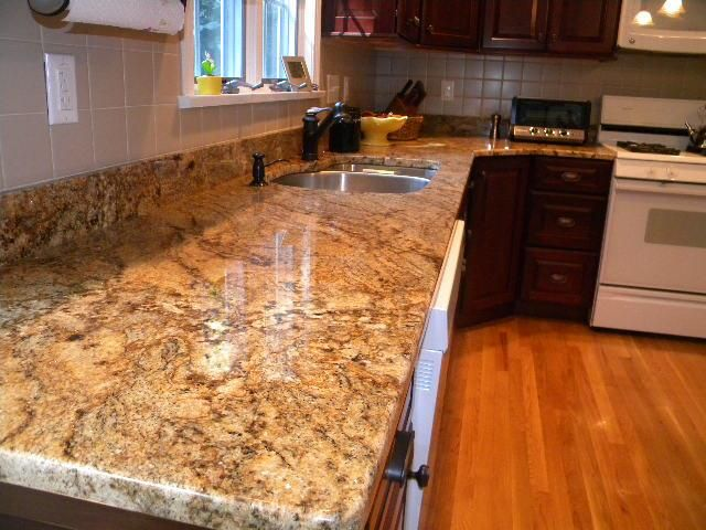 Crystal Gold Granite Countertops In A Westborough Massachusetts