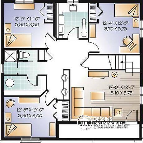 Sous-Sol Plain-Pied Économique De 5 Chambres, 2 Salons, Chambre
