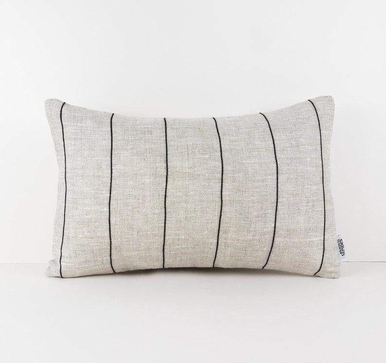 striped euro sham pillow cover linen