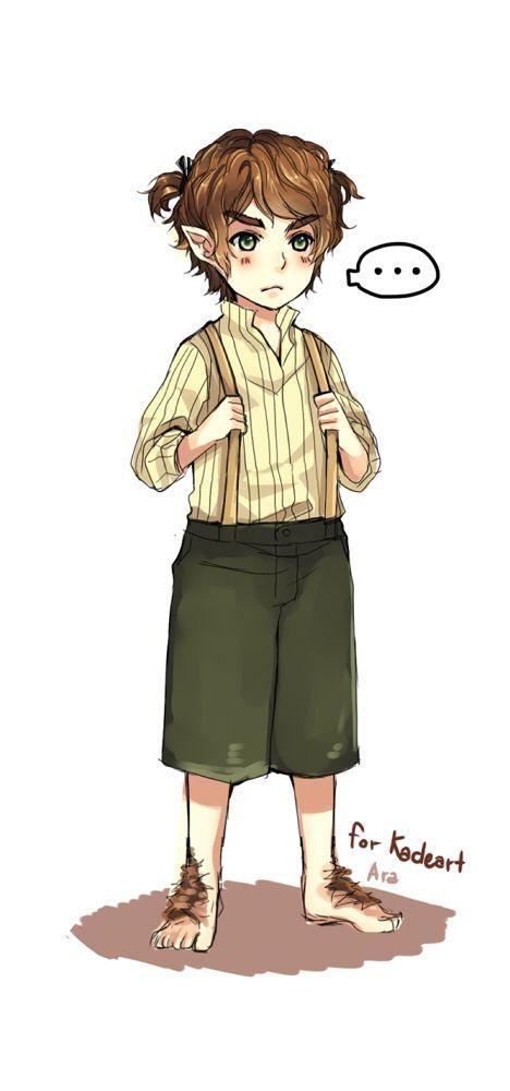 Bilbo twin-tail……LOL | The hobbit, Legolas, Funny cute