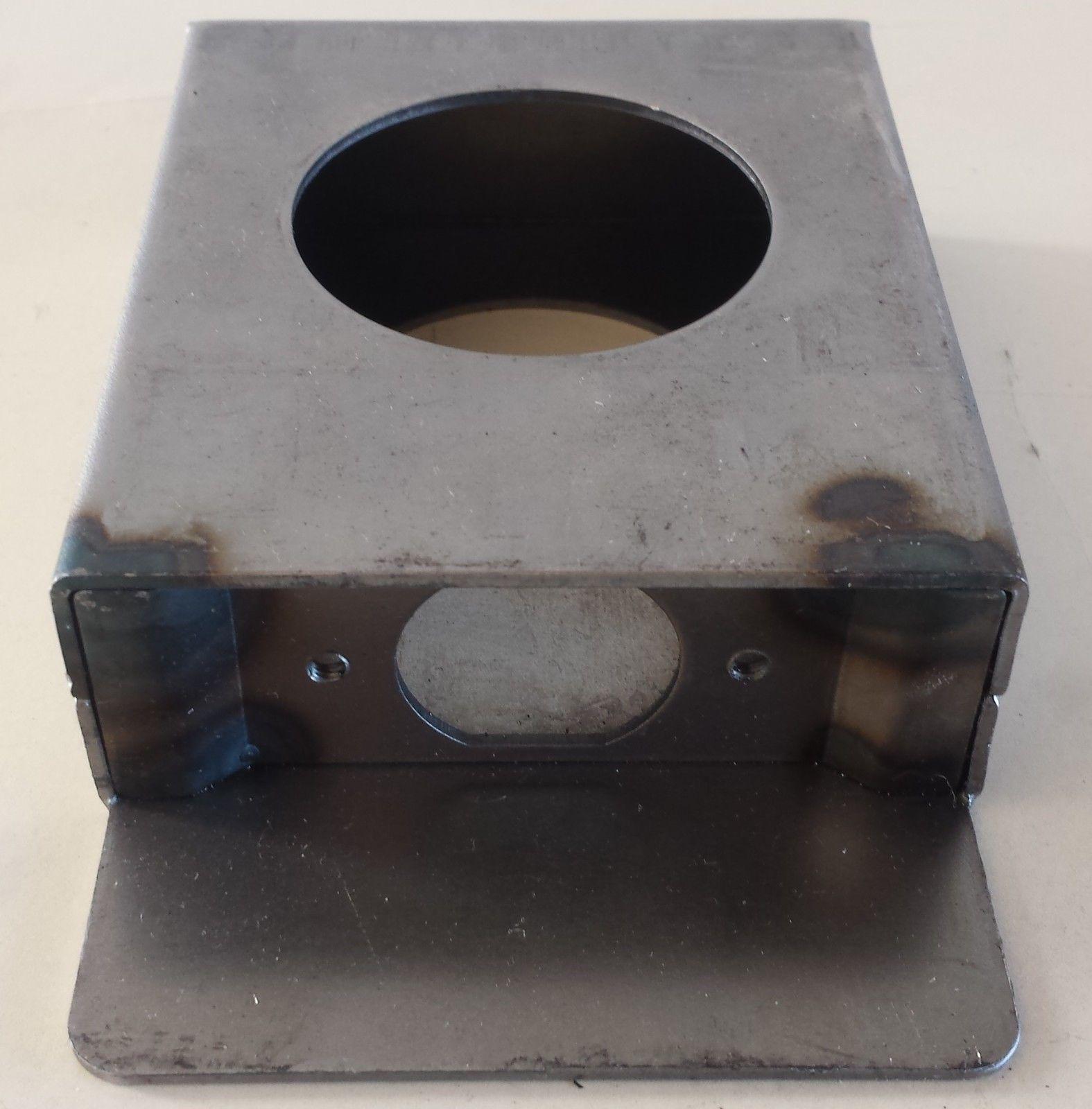 2x Gate Door Steel Lock Box Single Hole Weld 1 1 4 X 3 1