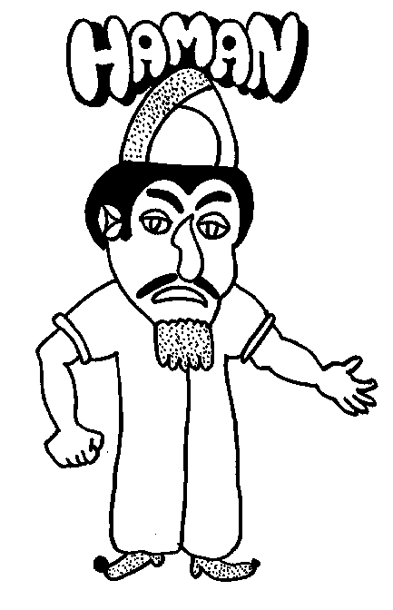 haman purim coloring page online