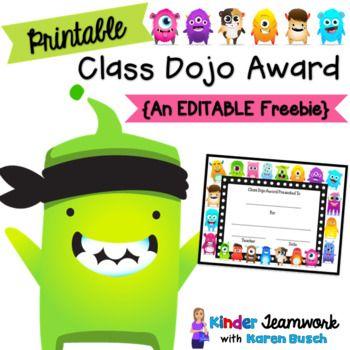 Class Dojo Award Certificate {Freebie} class dojo Pinterest - award certificate