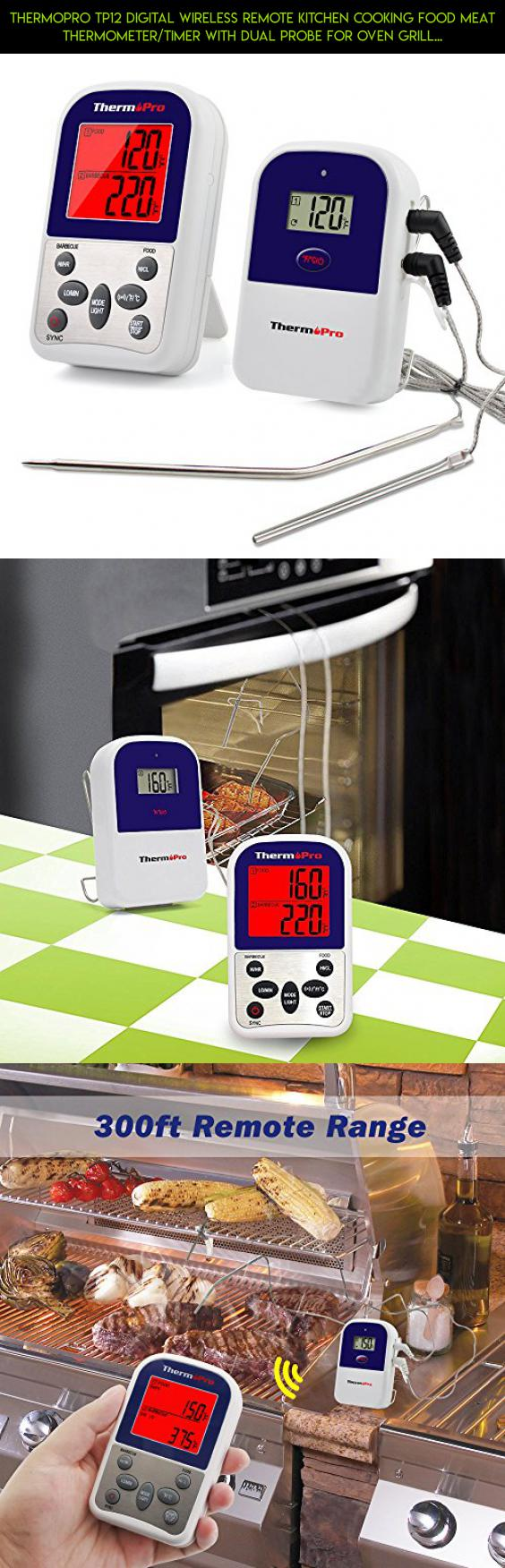 thermopro tp12 digital wireless remote kitchen cooking food meat