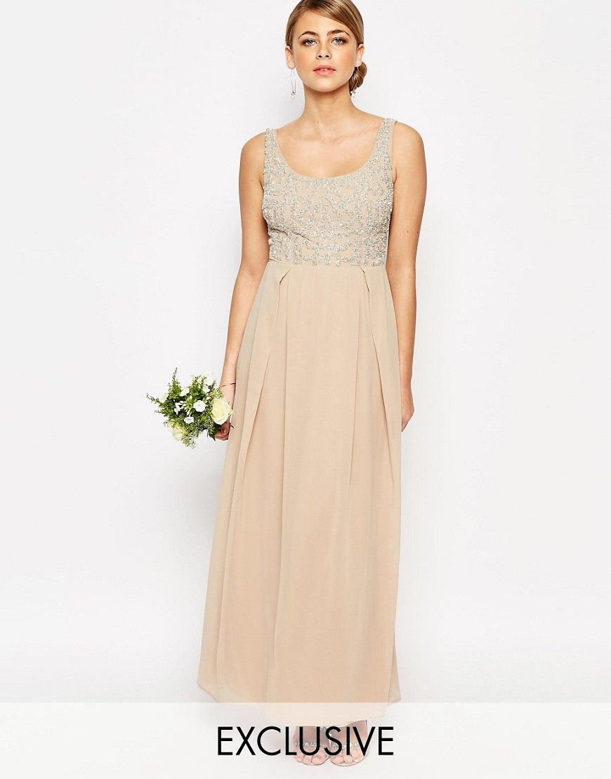 Maya Tonal Embellished Maxi Dress at asos.com
