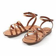 Damen-Riemensandale Rindleder | Schuhe