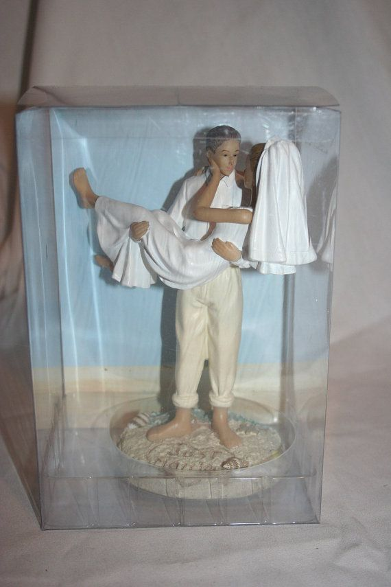 Resin Caucasian Beach Bride and Groom Just by splendorlocity
