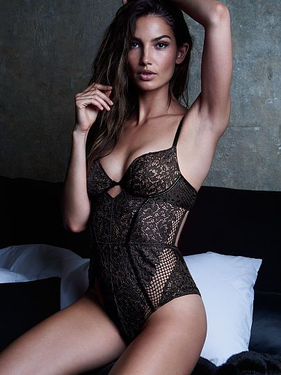 Victoria Secret Lingerie Teddy Bodysuit One Piece Black Leather   Lace NEW  Sexy 21e997108