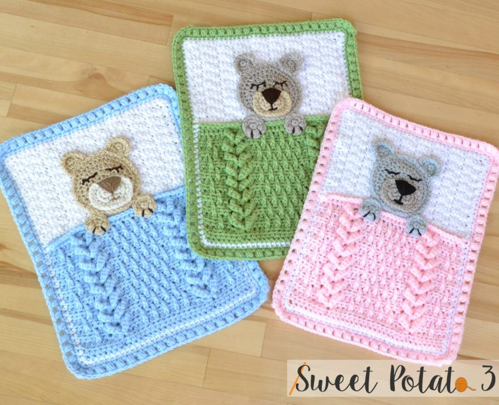Sleep Tight Teddy Bear Lovey | Crochet Blankets | Pinterest