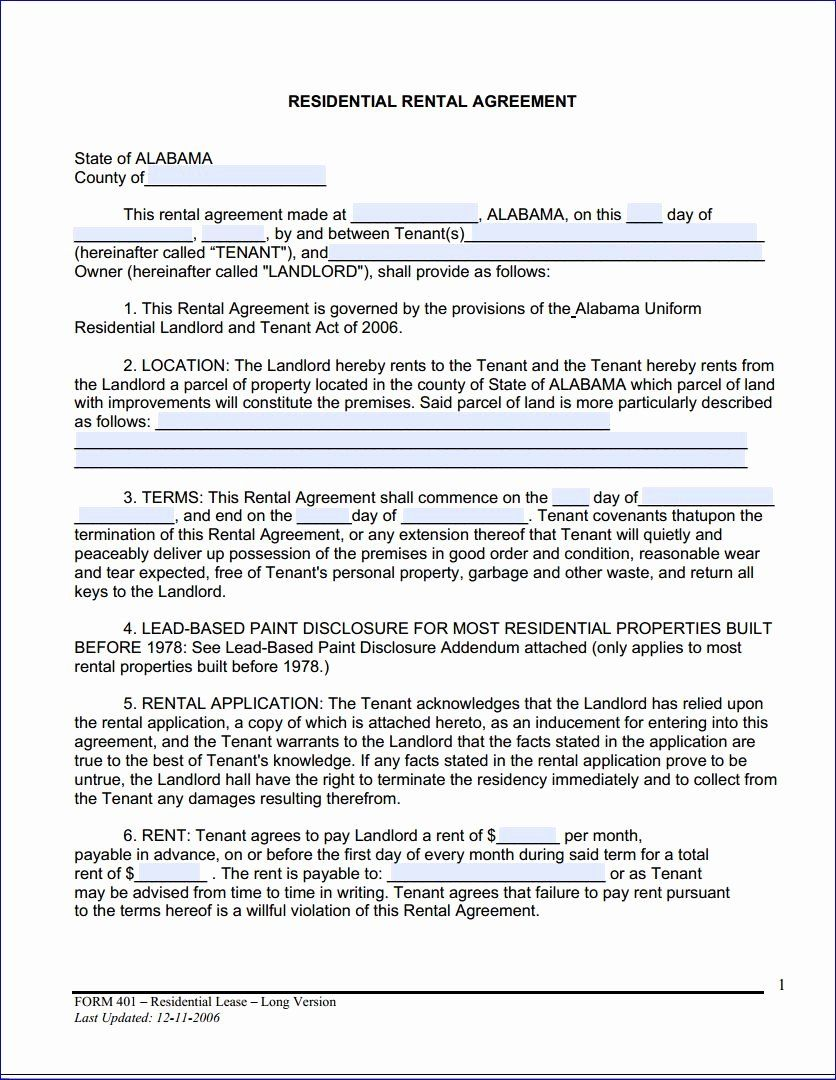 Residential Rental Agreement Form Elegant Download Free Alabama Month To Month Rental Rental Agreement Templates Lease Agreement Lease Agreement Free Printable