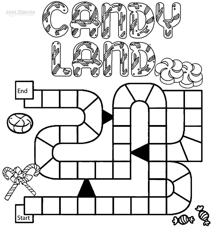 Printable Candyland Coloring Pages For Kids Candyland Candyland Games Candy Land Theme