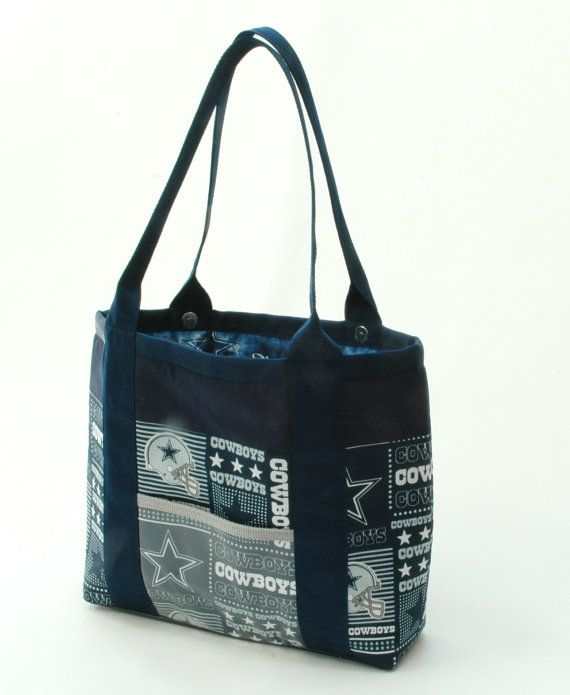 Handmade Fabric Handbag Tote Computer Bag Or Purse Made From Dallas Cowboy For All Occasions The Lena