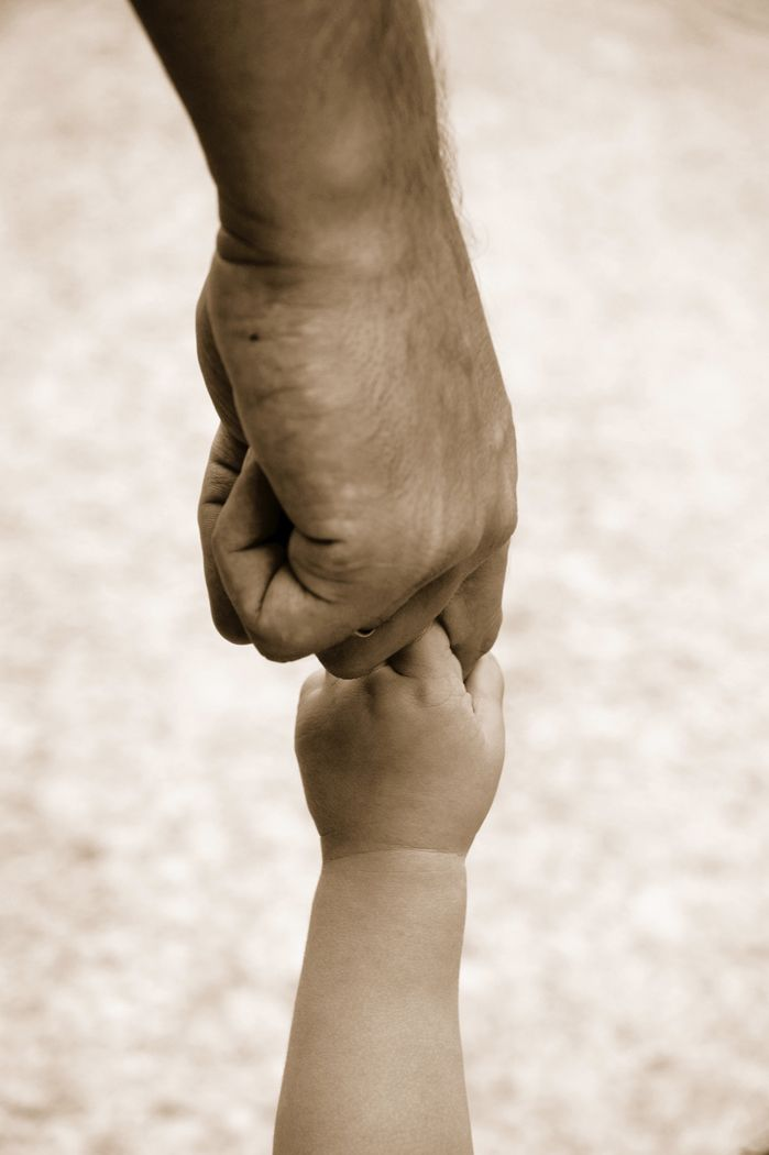 Father And Child Holding Hands Father Son Children Trust God God