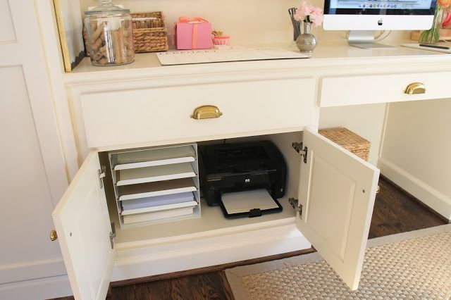 Jenny Steffens Hobick My Office Space In The Mudroom Paper Filer Pulls Out Ikea Office Furniture Modern Home Office Decor Office Furniture Design My office space in mudroom
