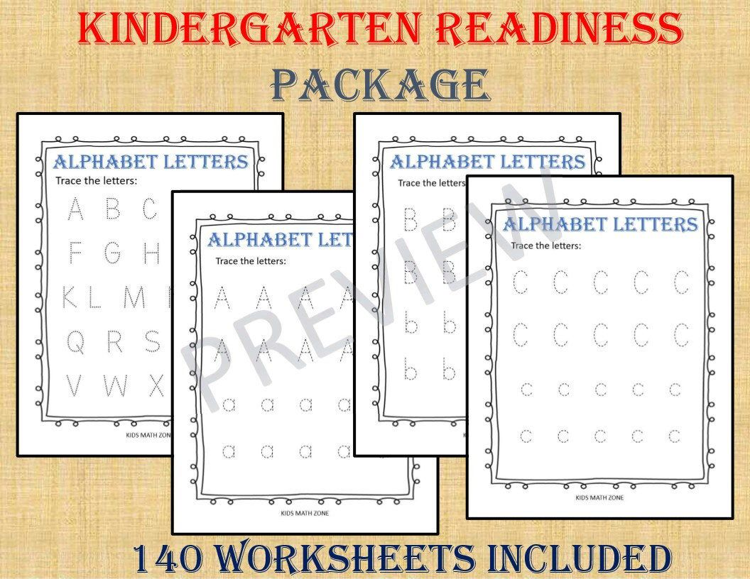 Kindergarten Readiness Package 140 Worksheets