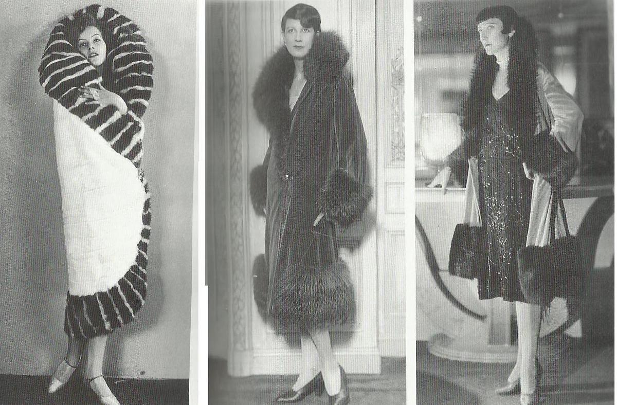 Manteaux des ann es 20 les manteaux portefeuille en fourrures recouvrent les femmes v tues de - Mode annee 20 ...