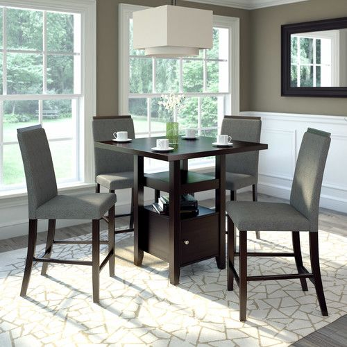 White Cane Outdoor Furniture, Found It At Wayfair Burgess 5 Pieces Counter Height Dining Set Dining Room Sets Counter Height Dining Sets Dining Set