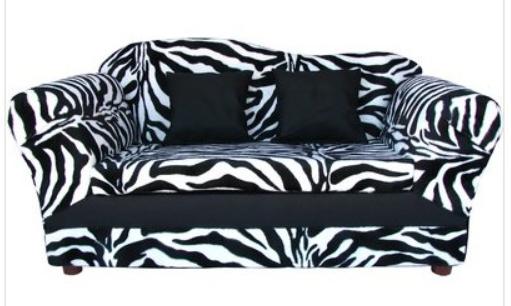 Fantasy Furniture Kidsu0027 Wave Sofa In Zebra* Wal Mart $107.99