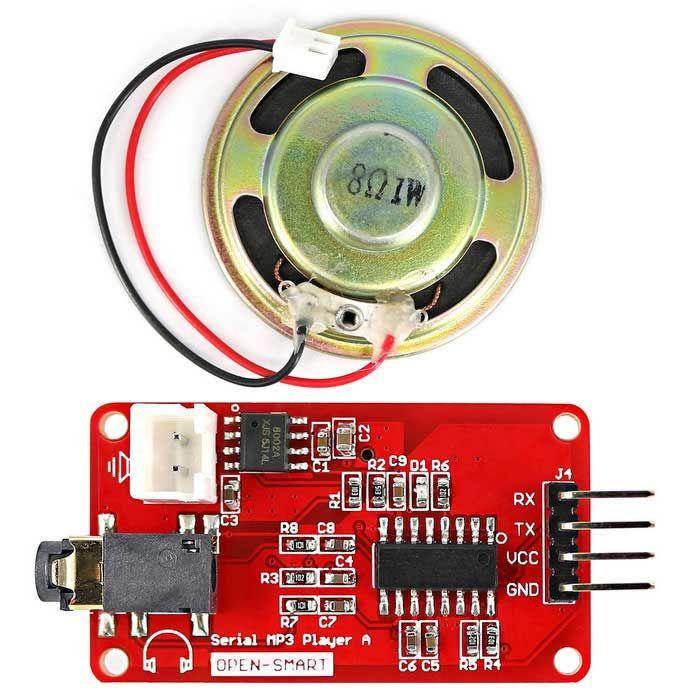 Onboard Monaural Amplifier Speaker Socket Plug 8ohm 1w Speaker To Play Mp3 Wav Audio Music Find The Cool Gad Mp3 Music Player Music Players Audio Music
