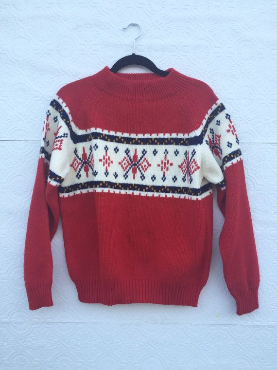 Vintage Ugly Christmas Sweater - Red JCPenny | Ugliest christmas ...