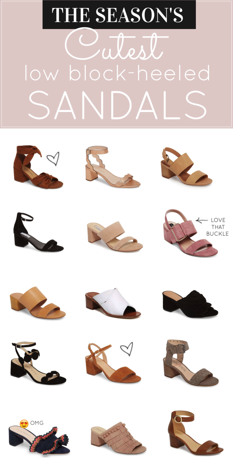 e56eef6be928 Say hello to your new favorite spring and summer shoe trend  low block-heeled  sandals. Comfortable and chic