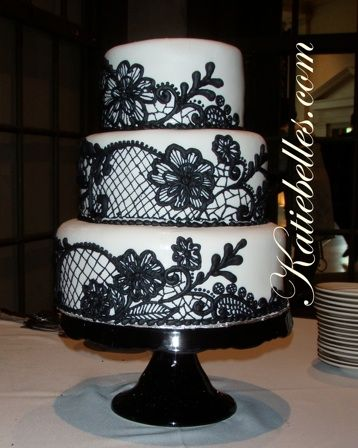 black lace wedding cakes black lace wedding cake my cakes 11869