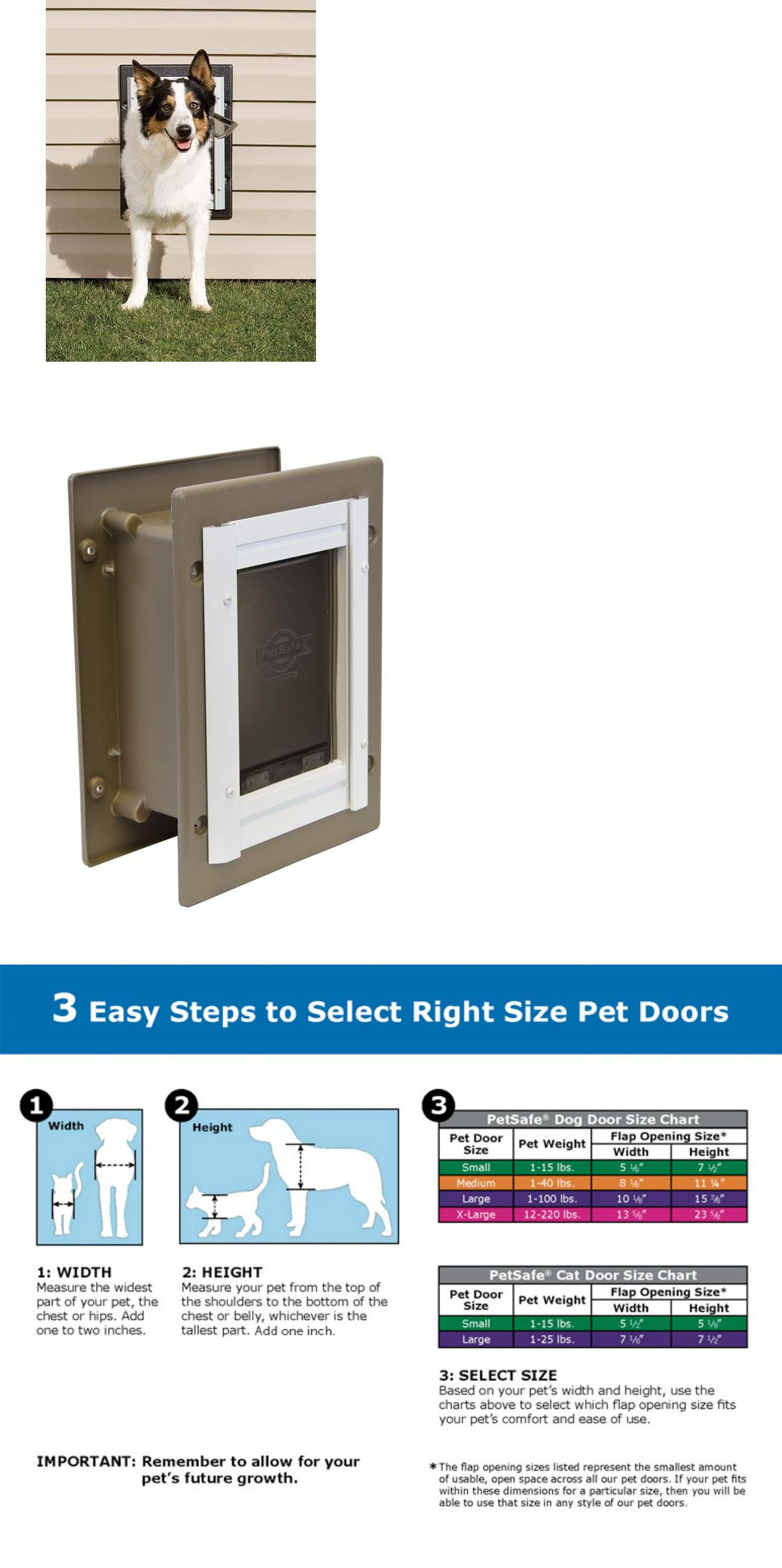 Doors And Flaps 116379 Petsafe Wall Entry Aluminum Dog Door Double