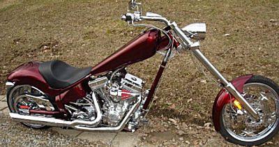 The long tanked Custom 2007 American Ironhorse Texas Chopper