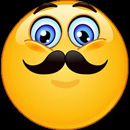 Movember Smile Emoticon Funny Emoji Faces Funny Emoticons Smiley