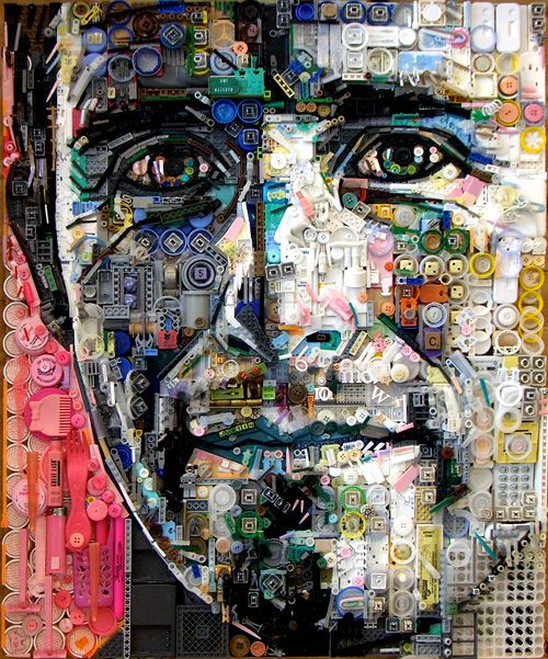 Using unwanted junk and scraps of leftover thrash american artist zac freeman turns them into amazingly detailed portraits