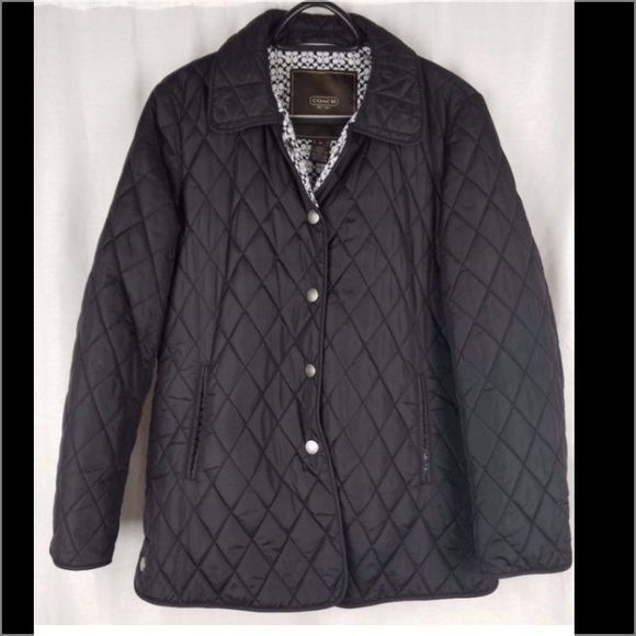 Signature Black Quilted Jacket | Quilted jacket, Black quilt and ... : coach quilted coat - Adamdwight.com
