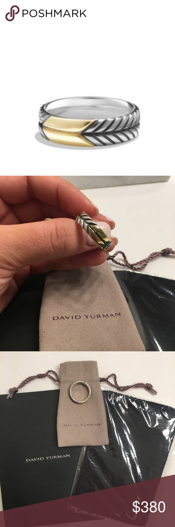 david yurman chevron band ring this never been worn menu0027s sterling silver and 18k gold chevron ring is absolutely gorgeous i purchased this ring a couple