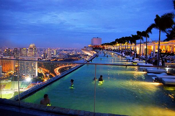 Marina Bay Sands Infinity Pool Sands Singapore Pool Beautiful