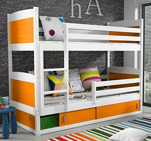 huge discount ff4a2 17dc4 RICO BUNK BED 160x80cm toodler bed white colour with 2 foam ...
