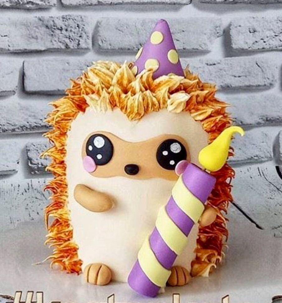 Hedgehog birthday cake idea partyideas hedgehog