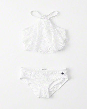857aedd87d83a kids High Neck Two-Piece Swimsuit | Swimwear in 2019 | Kids bathing ...