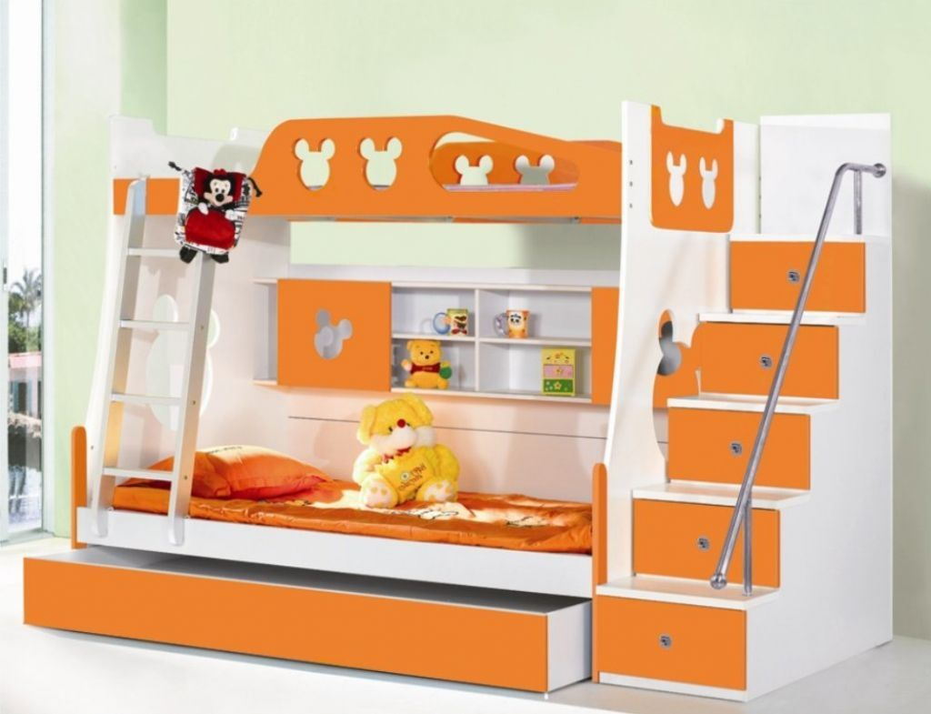 Bunk beds for boys with stairs unique bunk beds for kids for Latest children bedroom designs