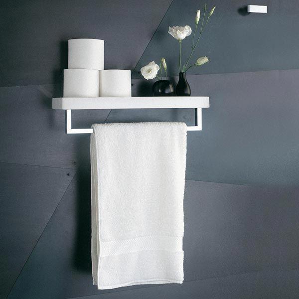 Fantini collezione accessori Linea porta salviette con mensola ...