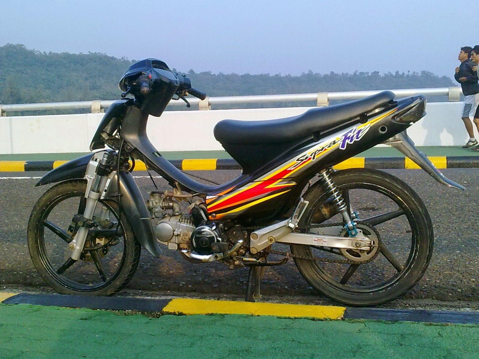 Modifikasi Motor Supra Standar Motor Kendaraan Motor Sport