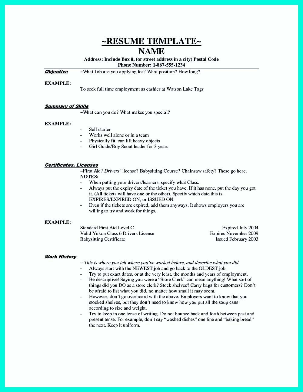 If You Want To Make A Great And Impressive Cashier Resume Make