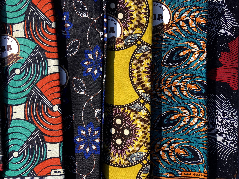 African Fabric Stoff Aus Tanzania Afrikanischer Stoff Wax Print