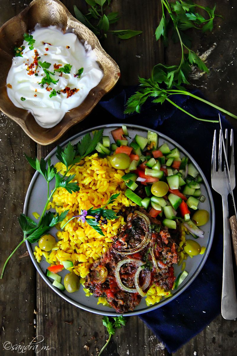 Jordanian beef kefta tomato salad cucumber and salad jordanian beef kefta sandras easy cooking forumfinder Choice Image