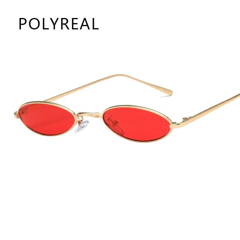 39bbb15d6eb POLYREAL 2018 New Small Oval Steampunk Sunglasses Fashion Women Men Vintage  Brand Designer Round Sun Glasses for Female Male
