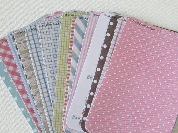 Masking Sticker Set  ver fabric  27 Sheets  by HazalsBazaar, $4.95