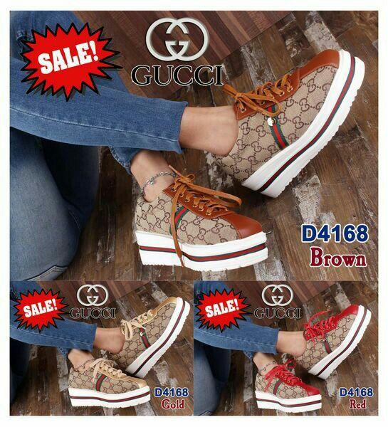 Shoes Gucci D4168 Sale Bahan Canvas Kualitas Semi Premium Ukuran