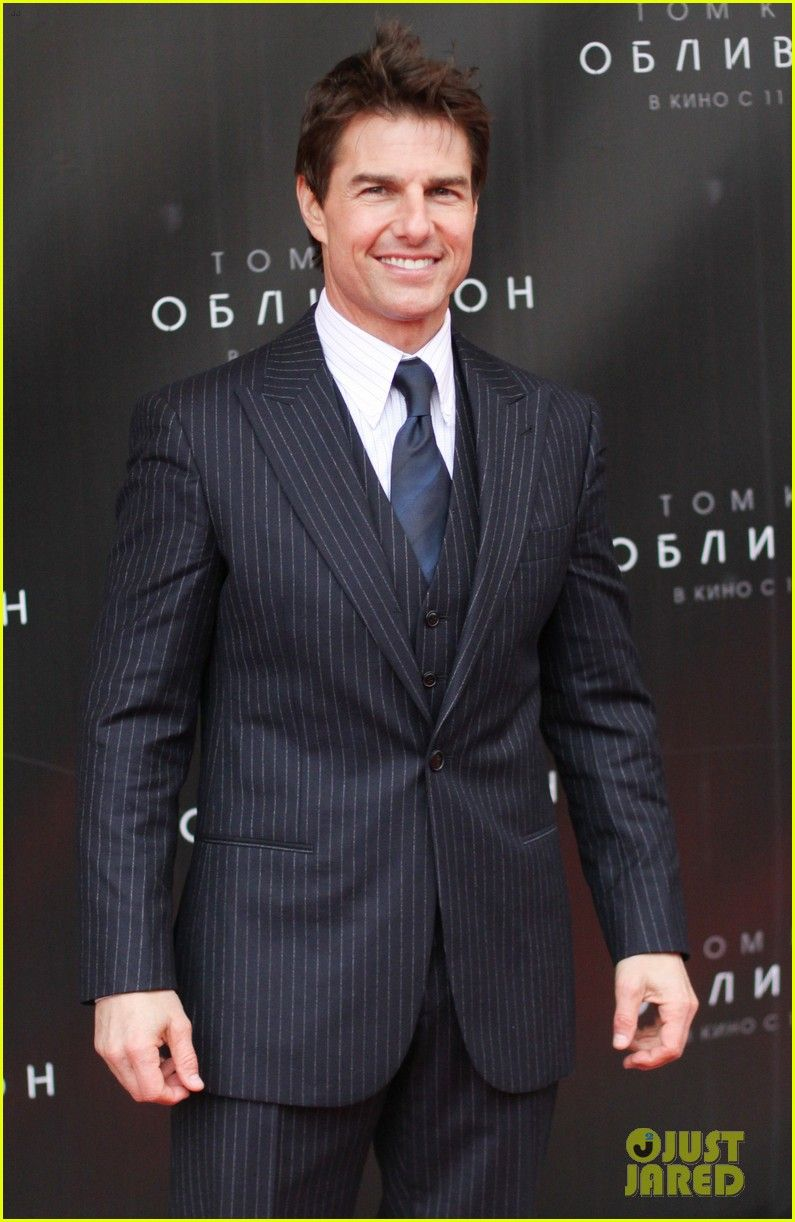 787bfe7c4f Tom Cruise  suits up in 3-piece pinstripe